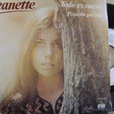 Discos de vinilo: JEANETTE -TODO ES NUEVO -SINGLE 1977 -BUEN ESTADO. Lote 53451685