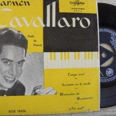 Discos de vinilo: CARMEN CAVALLARO (SOLO DE PIANO) -EP -COLUMBIA -PEDIDO MINIMO 3 EUROS. Lote 53451837