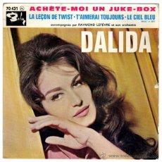 Discos de vinilo: DALIDA – ACHETE MOI UN JUKE BOX - EP FRANCE 1962 - BARCLAY 70431. Lote 53454438