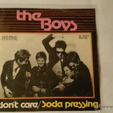 Discos de vinilo: THE BOYS - I DON'T CARE / SODA PRESSING (1977). Lote 53457766