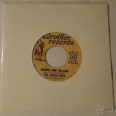 Discos de vinilo: THE BEACH BOYS - HEROES AND VILLAINS (HEROES Y VILLANOS) / YOU'RE WELCOME (EDIC. USA 1967). Lote 53460585