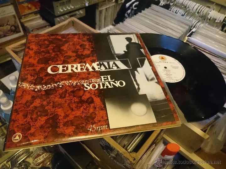 CEREMONIA EL SOTANO HEROES 45RPM MAXI DISCO DE VINILO PRODUCCIONES CITRA (Música - Discos de Vinilo - Maxi Singles - Grupos Españoles de los 70 y 80)