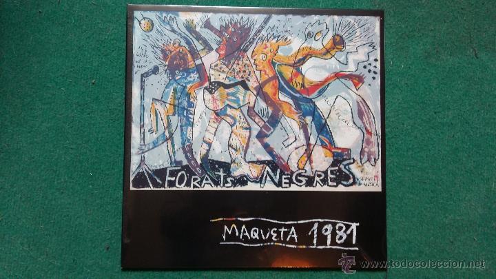 FORATS NEGRES - MAQUETA 1981 (FURNISH TIME , MIQUEL BARCELÓ..) VINILO COLOR NEGRO (Música - Discos - LP Vinilo - Grupos Españoles de los 70 y 80)