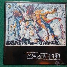 Discos de vinilo: FORATS NEGRES - MAQUETA 1981 (FURNISH TIME , MIQUEL BARCELÓ..) VINILO COLOR NEGRO. Lote 112516202
