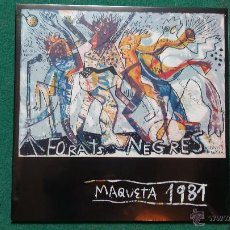 Discos de vinilo: FORATS NEGRES - MAQUETA 1981 (FURNISH TIME , MIQUEL BARCELÓ..) VINILO COLOR BLANCO. Lote 105987008