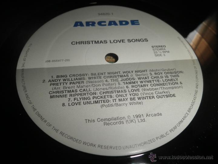 Discos de vinilo: CHRISTMAS LOVE SONGS DOBLE LP - VARIOS ARTISTAS - ARCADE RECORDS 1991 - MUY NUEVO (5). ED. INGLESA - - Foto 13 - 53466381