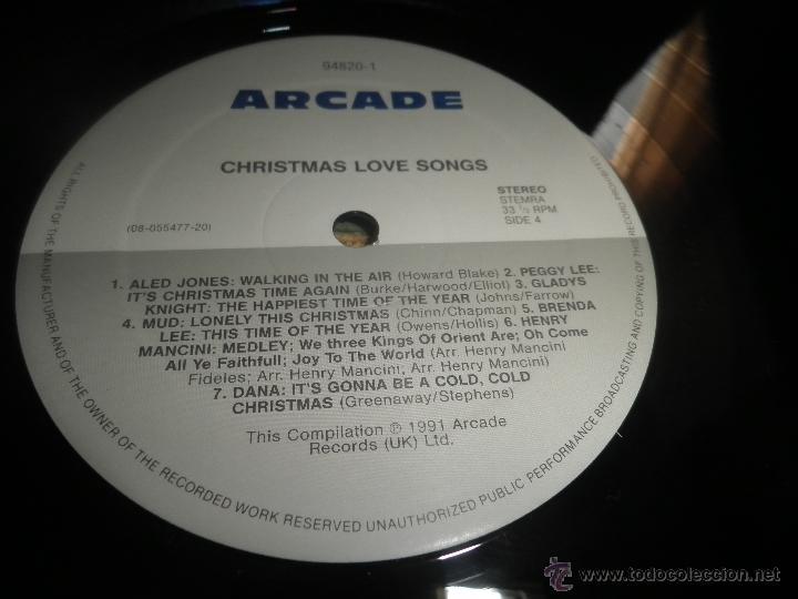Discos de vinilo: CHRISTMAS LOVE SONGS DOBLE LP - VARIOS ARTISTAS - ARCADE RECORDS 1991 - MUY NUEVO (5). ED. INGLESA - - Foto 16 - 53466381