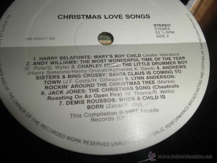 Discos de vinilo: CHRISTMAS LOVE SONGS DOBLE LP - VARIOS ARTISTAS - ARCADE RECORDS 1991 - MUY NUEVO (5). ED. INGLESA - - Foto 20 - 53466381