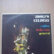 Discos de vinilo: ADOLFO CELDRAN- CAJITAS/ BELLA CIAO/ GENERAL- EP SONOPLAY 1969. Lote 53472223