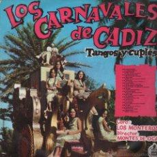 Discos de vinilo: CARNAVAL DE CADIZ..LOS CARNAVALES DE CADIZ .TANGOS Y CUPLES ..LP. Lote 53474096