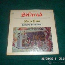 Discos de vinilo: SEFARAD. MARIA MURO, DEMETRIO BALLESTEROS. SAGA 1983. Lote 53478340