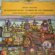 Discos de vinilo: RAVEL: BOLERO ORQUESTA FILARMONICA DE BERLIN DIR. HERBERT VON KARAJAN ..LP. Lote 53494934