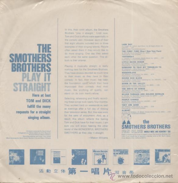 Discos de vinilo: Smothers Brothers – Play It Straight 1968 !! rara edic org taiwan, vinilo color naranja !!, exc - Foto 2 - 53496324