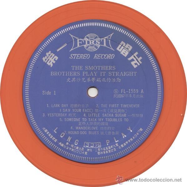 Discos de vinilo: Smothers Brothers – Play It Straight 1968 !! rara edic org taiwan, vinilo color naranja !!, exc - Foto 3 - 53496324