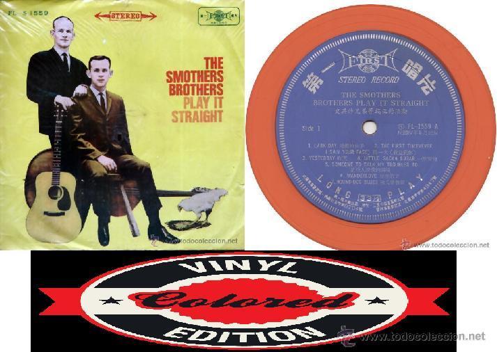SMOTHERS BROTHERS – PLAY IT STRAIGHT 1968 !! RARA EDIC ORG TAIWAN, VINILO COLOR NARANJA !!, EXC (Música - Discos - LP Vinilo - Pop - Rock Extranjero de los 50 y 60)