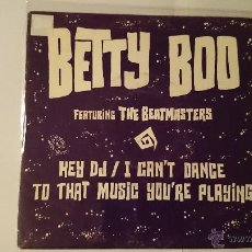 Discos de vinilo: BETTY BOO FT. THE BEATMASTERS - HEY DJ / I CAN'T DANCE (TO THAT MUSIC YOU'RE PLAYING) (X2) (1990). Lote 53499807
