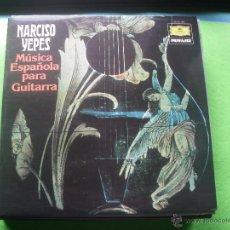 Discos de vinilo: NARCISO YEPES - MUSICA ESPAÑOLA PARA GUITARRA LP NUEVO¡¡¡¡ PEPETO. Lote 53501149