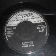 Discos de vinilo: DUANE EDDY SINGLE KOMMOTION. MADE IN UK. 1960. SOLO VINILO.. Lote 53501210