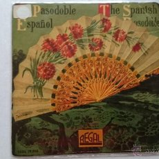 Discos de vinilo: BANDA MUNICIPAL DE MADRID (PASODOBLES) - ESPAÑA CAÑI / LA CALESERA / GITANERIA ANDALUZA + 1 (1958). Lote 53505067