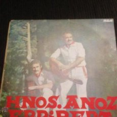 Discos de vinilo: HERMANOS ANOZ - ERRIBERA - EUSKADI - LP MUY RARO. Lote 53509050