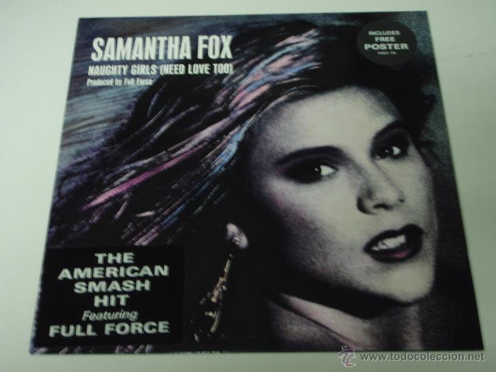 SAMANTHA FOX ( NAUGHTY GIRLS(NEED LOVE TOO) 2 VERSIONES - DREAM CITY ) ENGLAND-1987 VINILO ROSA (Música - Discos de Vinilo - Maxi Singles - Disco y Dance)
