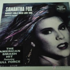 Discos de vinilo: SAMANTHA FOX ( NAUGHTY GIRLS(NEED LOVE TOO) 2 VERSIONES - DREAM CITY ) ENGLAND-1987 VINILO ROSA. Lote 53518748