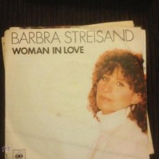 Discos de vinilo: BARBARA STREISAND - WOMAN IN LOVE - SINGLE 1980 CBS . Lote 53519885