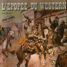 Discos de vinilo: THE TEXAS TRAVELLERS : L ´EPOPEE DU WESTERN ( CAJA 3 L´P´S ) MORRICONE, TIOMKIN, GOLDSMITH......... Lote 53521163