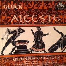 Discos de vinilo: ALCESTE GLUCK. KIRSTEN FLAGSTAD, RAOUL JONES. CONDUCTED BY GERAINT JONES. 4LP BOX. MADE IN ENGLAND. Lote 53521718