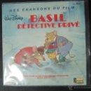 Discos de vinilo: SINGLE SOUNDTRACK BSO BASIL EL RATÓN SUPERDETECTIVE. EDICION FRANCESA. WALT DISNEY. MANCINI. BSO. Lote 53522650