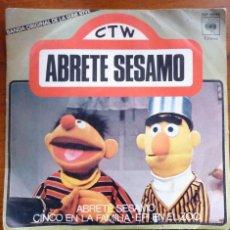 Discos de vinilo: DISCO SINGLE ABRETE SESAMO . BLAS Y EPI BANDA ORIGINAL DE LA SERIE 1976. Lote 53525231
