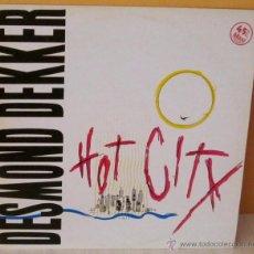 Discos de vinilo: DESMOND DEKKER - HOT CITY STIFF -1983. Lote 53529160