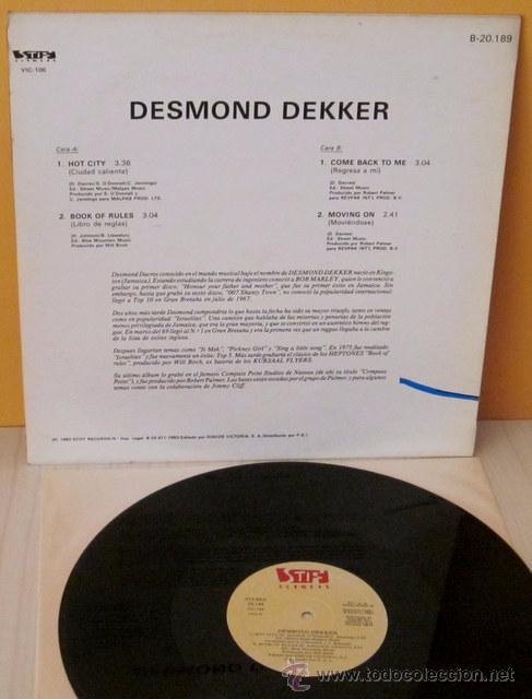 Discos de vinilo: DESMOND DEKKER - HOT CITY STIFF -1983 - Foto 2 - 53529160