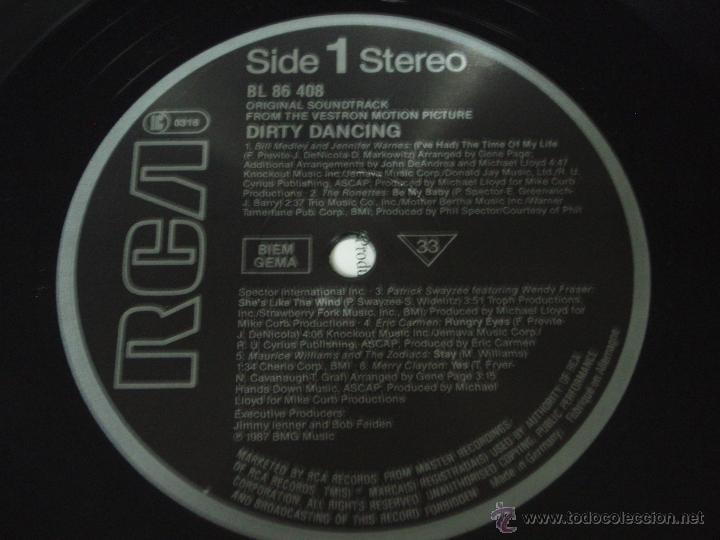 Discos de vinilo: DIRTY DANCING ( VARIOS RELACIONADOS EN LAS FOTOS ) 1987 - GERMANY LP33 RCA - Foto 4 - 97261064