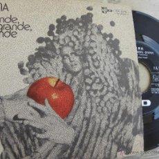 Discos de vinilo: MINA -GRANDE, GRANDE, GRANDE -SINGLE -EDICION ITALIANA. Lote 53532017