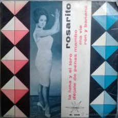 Discos de vinilo: ROSARITO. LA LUNA Y EL TORO/ DÉJATE DE PENAS MAMBO/ MA VIE/ RON Y BANANA. MAFER, ESP. 1965 EP. Lote 53534167