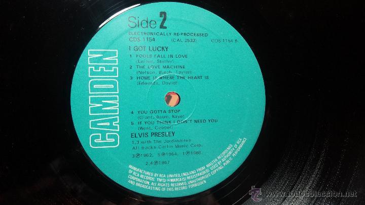 Discos de vinilo: Elvis Presley - L.P. I GOT LUCKY MADE in englad - Foto 12 - 53535283
