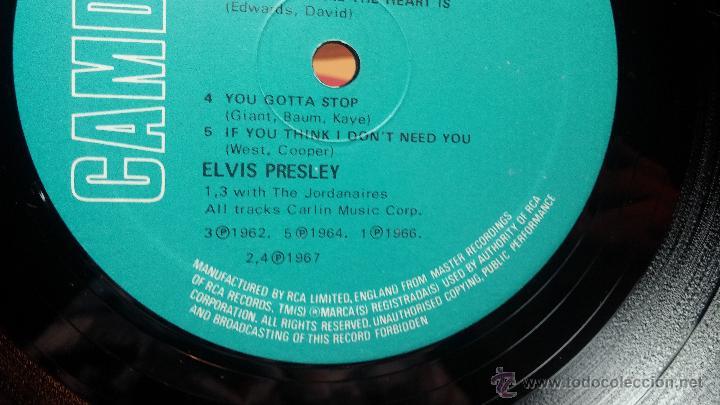 Discos de vinilo: Elvis Presley - L.P. I GOT LUCKY MADE in englad - Foto 16 - 53535283