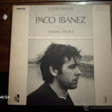 Discos de vinilo: PACO IBAÑEZ - ANTONIO SAURA - LA POESIA ESPAÑOLA DE HOY Y DE SIEMPRE - 3 - EDICION FRANCESA . Lote 53546422