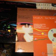 Discos de vinilo: LOTE 3 LP'S MUSICA ELECTROACUSTICA ESPAÑOLA VOL 1,2 Y 3-ESPAÑA 1987 -1990.CON ENCARTES Y A ESTRENAR.. Lote 53551756