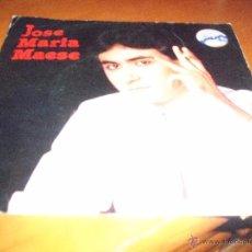 Discos de vinilo: SINGLE DE JOSE MARIA MAESE, SOLO RECUERDOS. EDICION FONODIS DE 1983.. Lote 53556164