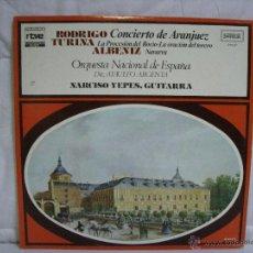 Discos de vinilo: ORQUESTA NACIONAL DE ESPAÑA (CONCIERTO DE ARANJUEZ, NAVARRA, LA ORACIÓN DEL TORERO, ....) *** ZAFIRO. Lote 53568244