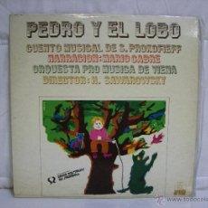Discos de vinilo: PROKOFIEKK *** CUENTO MUSICAL PEDRO Y EL LOBO *** ORQUESTA PRO MUSICA DE VIENA. Lote 53568409