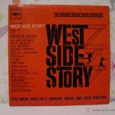 Discos de vinilo: WEST SIDE STORY *** BANDA SONORA ORIGINAL *** SINGLE VINILO AÑO 1966 *** CBS. Lote 53572958