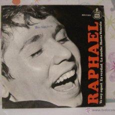 Discos de vinilo: RAPHAEL *** LA NOCHE, ES VERDAD, HASTA VENECIA, YO SOY AQUEL *** SINGLE VINILO HISPAVOX AÑO 1966. Lote 53573004