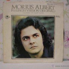 Discos de vinilo: MORRIS ALBERT ** FEELINGS + VEN A MI VIDA *** SINGLE VINILO CARNABY AÑO 1975. Lote 53573037