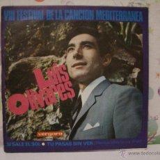 Discos de vinilo: LUIS OLIVARES *** VIII FESTIVAL CANCIÓN MEDITERRANEA *** SINGLE VINILO VERGARA AÑO 1966. Lote 53576148