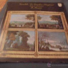 Discos de vinilo: VIVALDI --- LE QUATTRO STAGIONI ROBERTO MICHELUCCI CUADERNILLO INTERIOR GATEFOLD. Lote 53580999