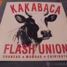 Discos de vinilo: FLASH UNION --- CHANZAS MURGAS CHIRIGOTAS (12 PULGADAS). Lote 53581318