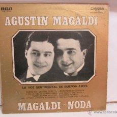 Discos de vinilo: AGUSTIN MAGALDI - NODA - LA VOZ SENTIMENTAL DE BUENOS AIRES - MONO - RCA VG+/VG. Lote 53582443
